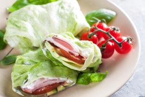 Lettuce wraps with turkey