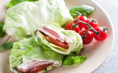 Avocado and Turkey Lettuce Wrap (serves one)