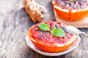baked grapefruit with cinnamon